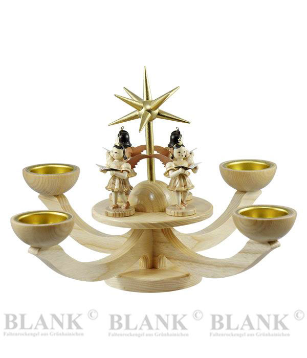 blank adventsleuchter mit teelichthalter und 4 stehenden engeln blank. Black Bedroom Furniture Sets. Home Design Ideas