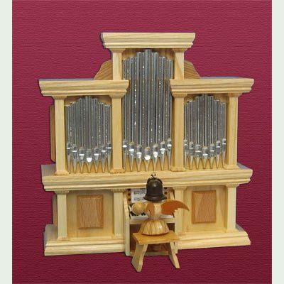blank engel an der orgel mit spielwerk kurzrock natur blank. Black Bedroom Furniture Sets. Home Design Ideas