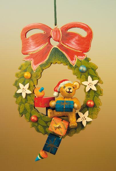 130h1005 Hubrig Baumbehang Teddy-Adventskranz