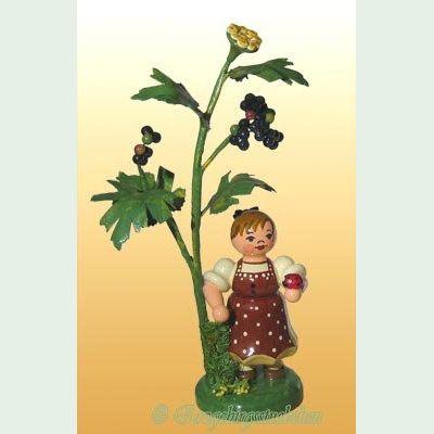 Hubrig Volkskunst Erzgebirge 304h0002 Miniatur Herbstkind mit Holunder