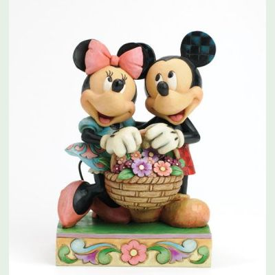 Jim Shore - Mickey und Minnie Mouse - Love In Bloom