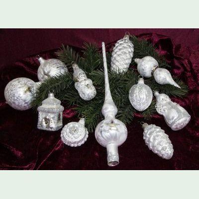 Christbaumkugeln Weiß Eislack.1100 Christbaumkugeln Kugelsortiment Weiß Eislack
